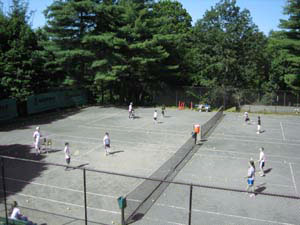 Kids Playing on Outdoor Courts