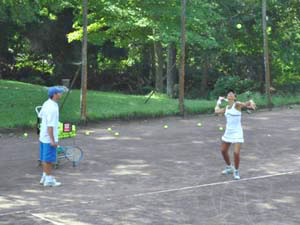 Outdoor Tennis Lesson